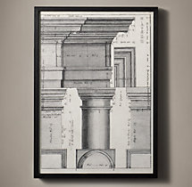 Italian Neoclassical Column Etchings - Sporto 39