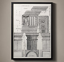Italian Neoclassical Column Etchings - Sporto 51