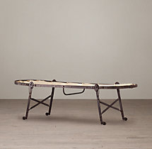19th C. English Folding Campaign Bench
