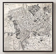 Vintage Aerial Maps of European Cities - Rome