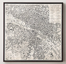 Vintage Aerial Maps of European Cities - Paris