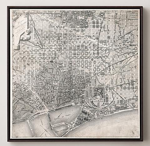 Maps RH - Oversized vintage maps
