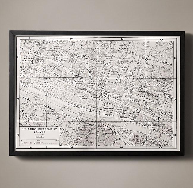 Arrondissement Map Louvre - Restoration hardware paris map