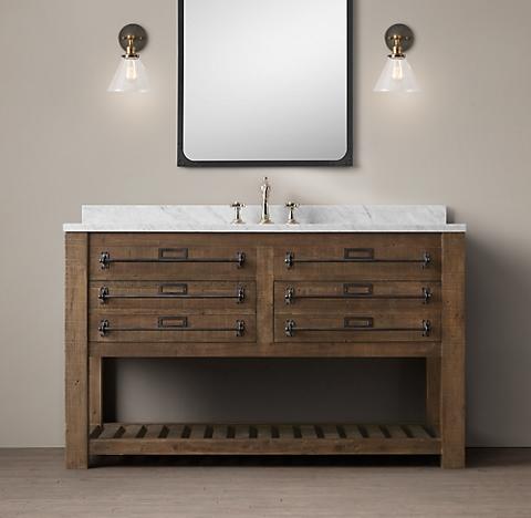 Bathroom Vanity Restoration Hardware early 20th c. mercantile bath collection | rh