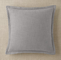 Custom Perennials® Classic Linen Weave Flanged Square Pillow Cover