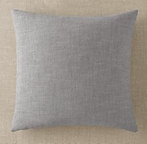 Custom Perennials® Classic Linen Weave Knife-Edge Square Pillow Cover