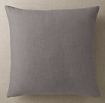 Custom Perennials® Textured Linen Weave Knife-Edge Square Pillow Cover