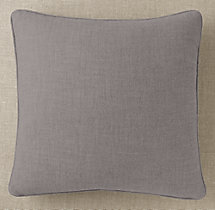 Custom Perennials® Textured Linen Weave Piped Square Pillow Cover