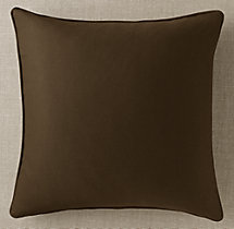 Custom Sunbrella® Twill Piped Square Pillow Cover