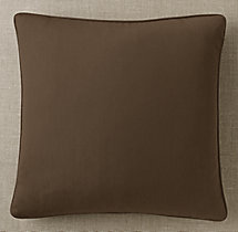 Custom Sunbrella® Canvas Piped Square Pillow Cover