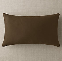 Custom Sunbrella® Twill Knife-Edge Lumbar Pillow Cover