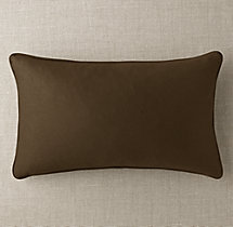 Custom Sunbrella® Twill Piped Lumbar Pillow Cover
