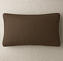 Custom Sunbrella® Canvas Piped Lumbar Pillow Cover