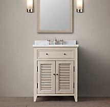 Shutter Powder Room Vanity