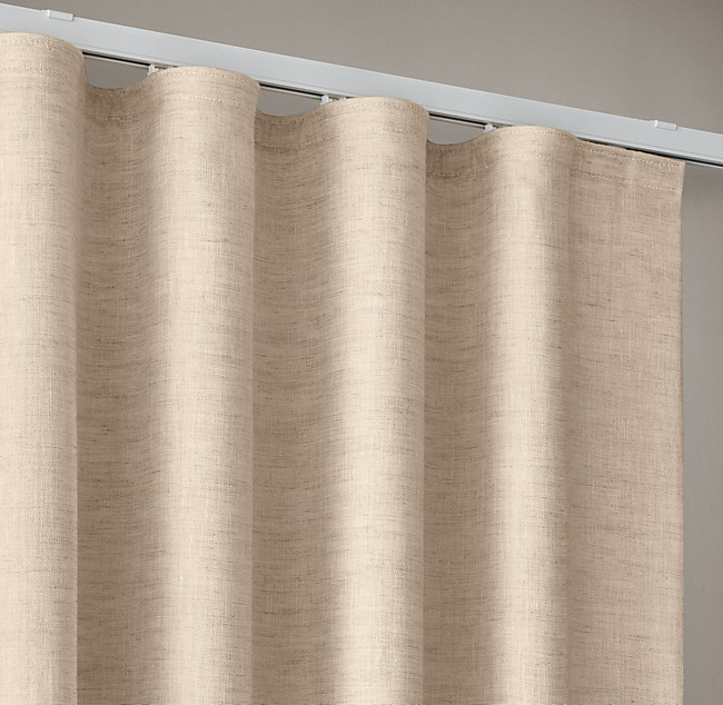 Custom Belgian Sheer Linen Ripple Fold Draperyselect Colors On Sale