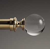 Custom Estate Rod with Crystal Ball Finials
