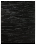 South American Cowhide Stripe Rug - Black