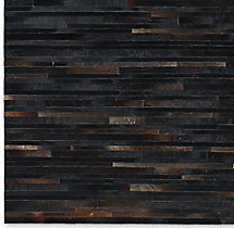 South American Cowhide Stripe Rug Swatch - Espresso
