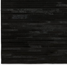 South American Cowhide Stripe Rug Swatch - Black