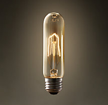 "T10 5"" Tube Amber Incandescent Bulb"