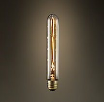 "T9 7¼"" Tube Amber Incandescent Bulb"