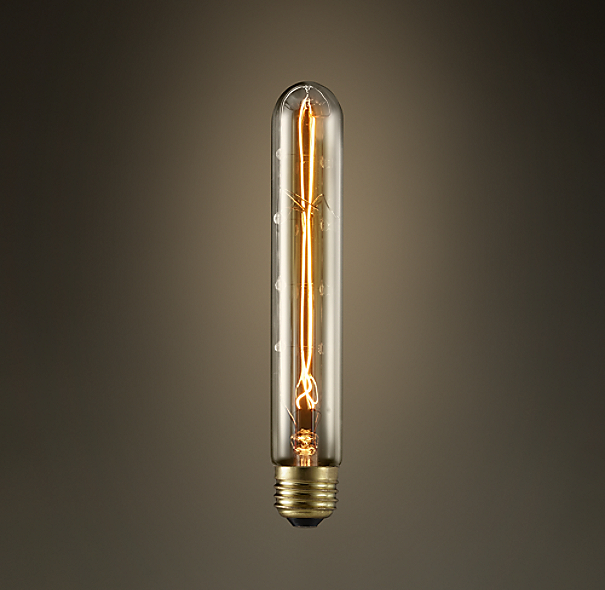 """Restoration Hardware Replacement Light Bulbs: T9 7¼"""" Tube Amber Incandescent Bulb"""