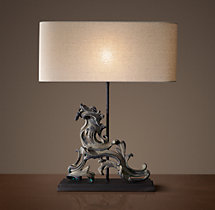 French Rococo Gate Artifact Table Lamp - Right