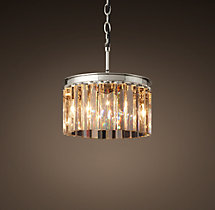 Rhys Clear Glass Prism Round Chandelier 12""