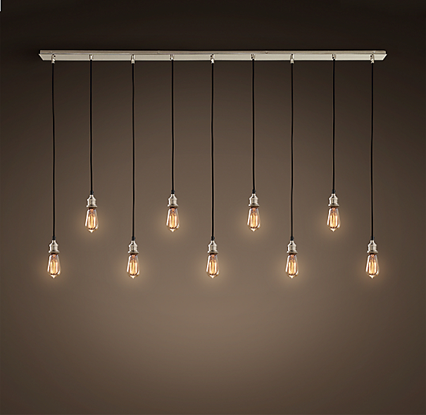 click to zoom bare bulb lighting