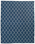 All-Weather Recycled Diamond Outdoor Rug - Blue/Grey