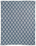 All-Weather Recycled Diamond Outdoor Rug - Grey/Blue