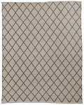All-Weather Recycled Diamond Outdoor Rug - Latte/Mocha