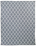 All-Weather Recycled Diamond Outdoor Rug - Grey/White