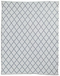 All-Weather Recycled Diamond Outdoor Rug - White/Grey