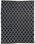 All-Weather Recycled Diamond Outdoor Rug - Black/Grey