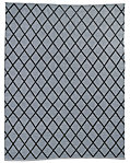 All-Weather Recycled Diamond Outdoor Rug - Grey/Black