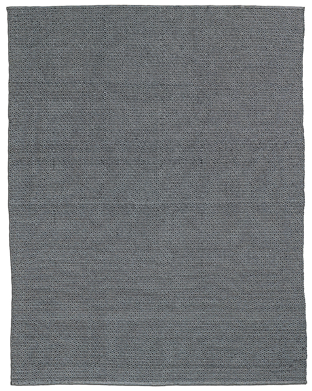 All weather recycled mini diamond outdoor rug black grey for All weather patio rugs
