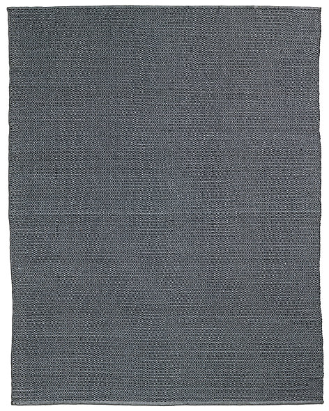 All-Weather Recycled Mini Diamond Outdoor Rug - Black/Grey