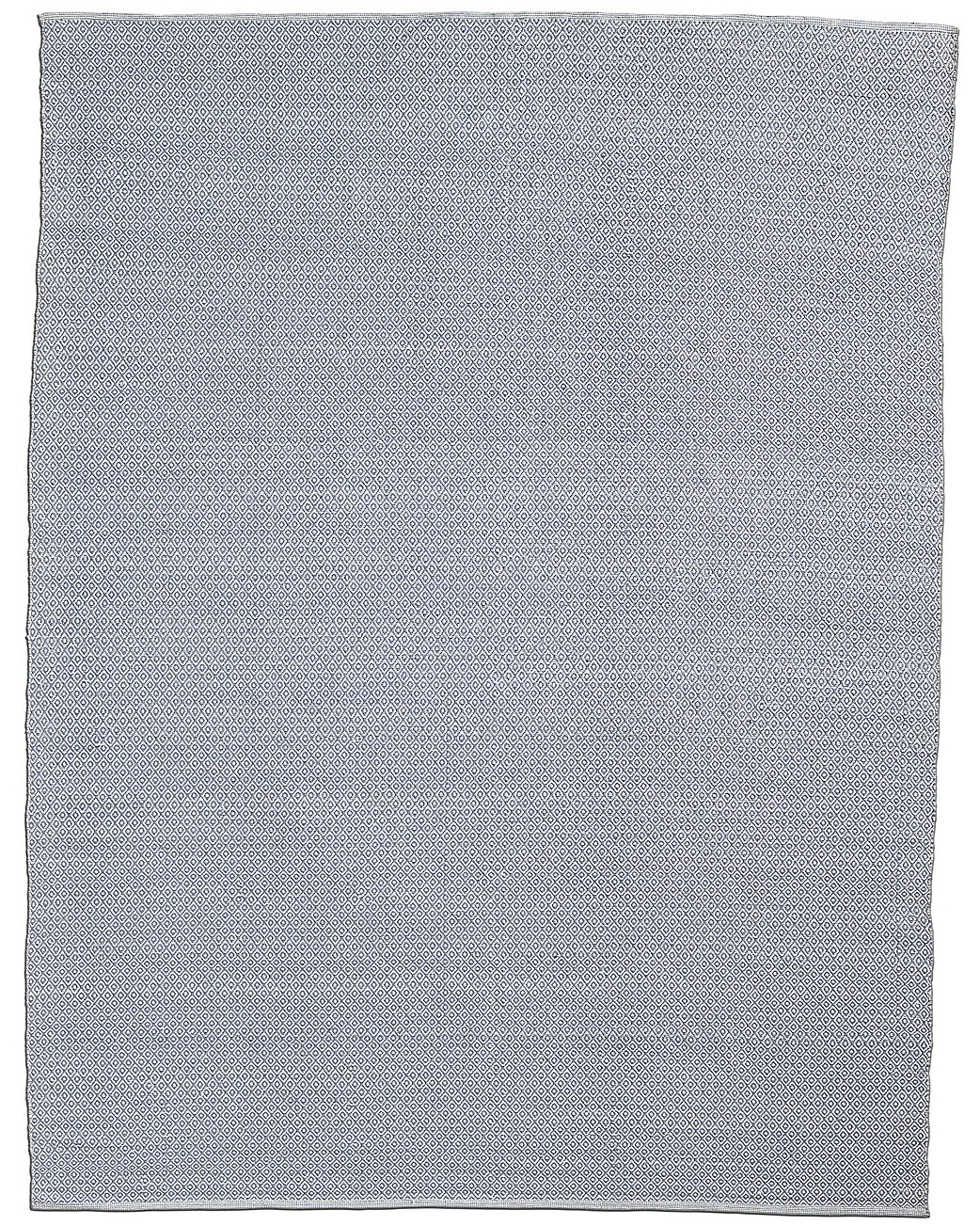 All-Weather Recycled Mini Diamond Outdoor Rug - Grey/White