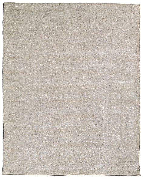 All-Weather Recycled Heathered Solid Outdoor Rug - Latte