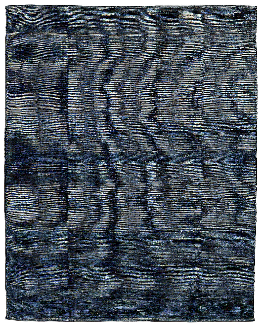 All-Weather Recycled Heathered Solid Outdoor Rug - Blue