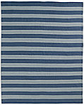 All-Weather Recycled Stripe Outdoor Rug - Blue/Grey