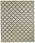 Hand-Knotted Moroccan Tile Flatweave Outdoor Rug - Ivory/Mocha