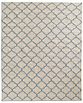 Hand-Knotted Moroccan Tile Flatweave Outdoor Rug - Ivory/Fog