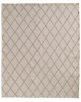Hand-Knotted Moroccan Diamond Flatweave Outdoor Rug - Sand