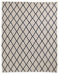 Hand-Knotted Moroccan Diamond Flatweave Outdoor Rug - Black