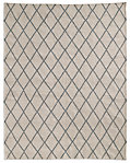 Hand-Knotted Moroccan Diamond Flatweave Outdoor Rug - Fog