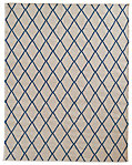 Hand-Knotted Moroccan Diamond Flatweave Outdoor Rug - Marine