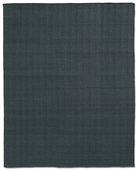 Herringbone Flatweave Outdoor Rug - Charcoal/Black