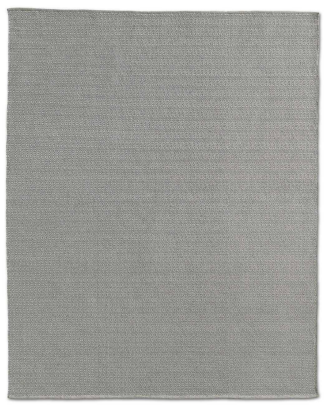 Geometric Flatweave Outdoor Rug - White/Silver